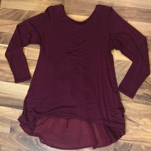 Long sleeved tunic Top